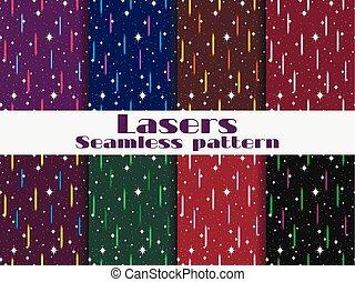 style, laser, beams., seamless, illustration, motifs, vecteur, retro, fond, 80s.