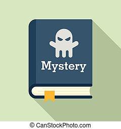 style, livre, icône, mystère, plat, vieux