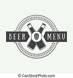 style., logo, vendange, bière