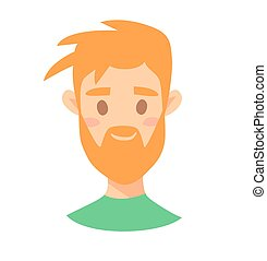 style, mâle, character., jeune, dessin animé