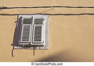 style, méditerranéen, fenêtre