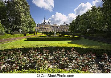 style, magnifique, ancien, parc, classicisme, francais