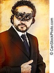 Style, masque, Vénitien, artistique, mystérieux,  sexy, homme