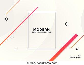style, memphis, présentation, moderne, blanc, bannière
