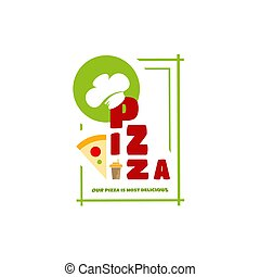 style, menu, individu, logo, café, ton, pizza