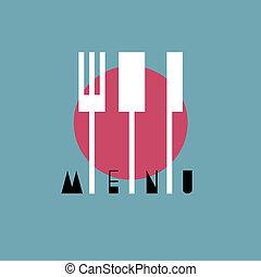 style, menu restaurant, -, variation, 1, conception, asiatique, élégant