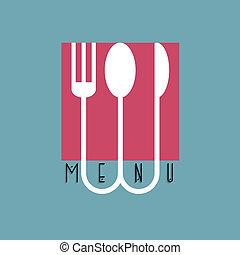 style, menu restaurant, -, variation, conception, élégant, 5, minimal