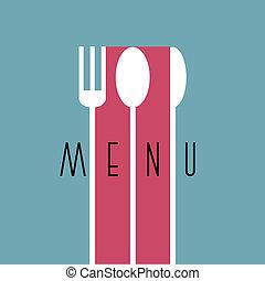 style, menu restaurant, -, variation, conception, 6, élégant, minimal