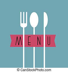 style, menu restaurant, -, variation, conception, 7, élégant, minimal