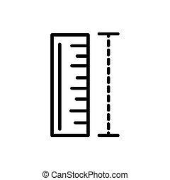 style, mesure, icône, règle, architecture, ligne