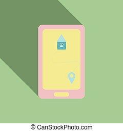 style, mobile, vendange, résumé, moderne, gadgets
