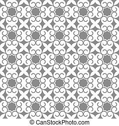 style, modèle fleur, gris, seamless, stylisé, oriental