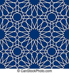 style, modèle, seamless, islamique, vecteur, fond