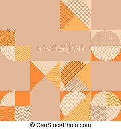 style, motif, vendange, formes, géométrique, 50s