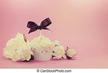 style, nuptial, femme, mère, vendange, petit gâteau,...