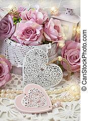 style, ou, amour, décoration, mariage, mesquin, romantique, chic, valentines
