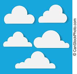 style, papier, nuages, vectors