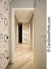 style, papier peint, salle, long, 70