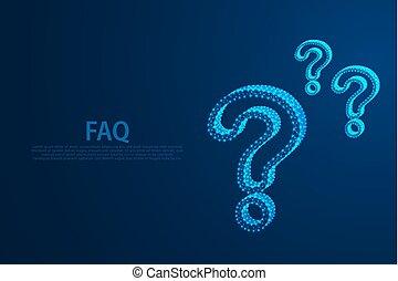 style, particule, illustration, question, eps, lignes, vecteur, fichier, marques, conception, triangles, icône