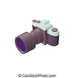 style, photo, lentille, appareil photo, icône, dessin animé