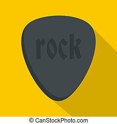 style, pierre, icône, plat, rocher