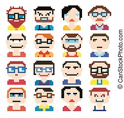 style, pixel, icônes