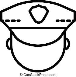 style, police, contour, figure, icône, homme