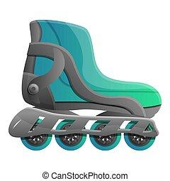 style, pro, patins, icône, inline, dessin animé
