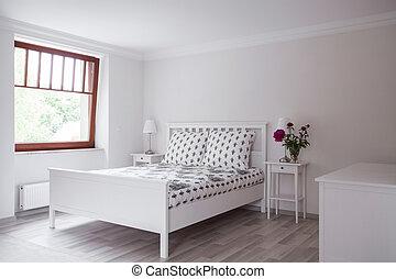 style, romantique, chambre à coucher