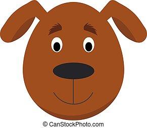 style, série, chien, illustration, figure, vecteur, animal, faces, children., dessin animé