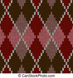 Style Seamless Knitted Pattern - Style Seamless Pink Brown...