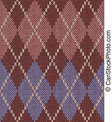 Style Seamless Knitwear Pattern - Style Seamless Pink Brown...