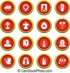 style, service, icônes, ensemble, obseque, rituel, simple
