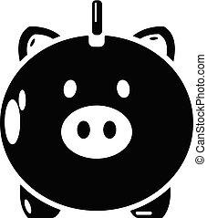 style, simple, argent, sûr, noir, icône
