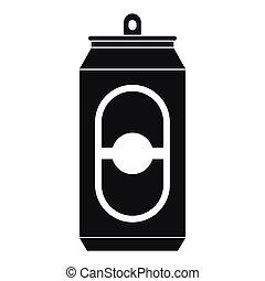 style, simple, bière, noir, boîte, icône