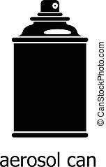 style, simple, boîte aérosol, icône, noir