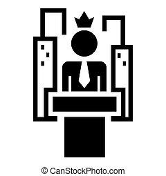 style, simple, politique, parole, élection, icône