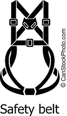 style, simple, sécurité, icône, ceinture noire