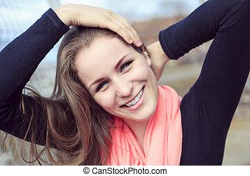 Style teen girl smile