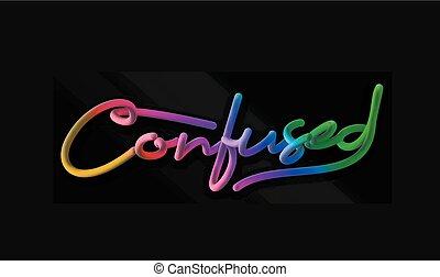 style, texte, confondu, illustration, calligraphic, tuyau, vecteur, conception, 3d