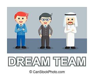 style, texte, photo équipe, homme affaires, rêve