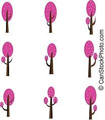 Style tree set of vector flat