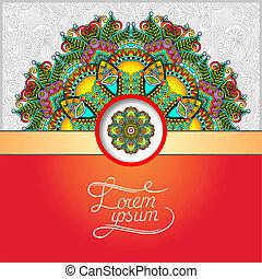 style, ukrainien, modèle, oriental, ethnique, floral, rond