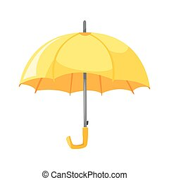 style, umbrella., illustration, vecteur, jaune, dessin animé