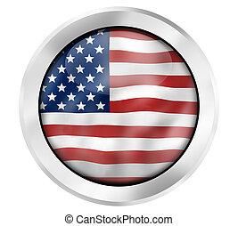 style, usa, drapeau américain, conception, frais