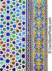 style, utile, marocain, islamique, fond, mosaïque