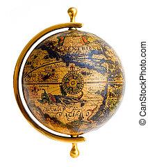 style, vieux, globe