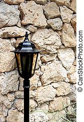 style, vieux, jardin, steampunk, lampe, victorien, poste