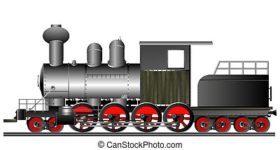 style, vieux, locomotive