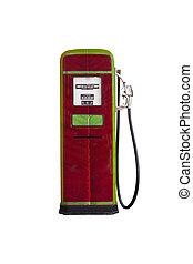 style vintage gasoline pump head isolate